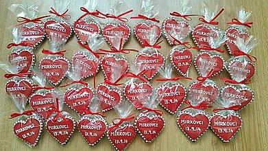Darčeky pre svadobčanov - Medovníky svadobné - 4482829_