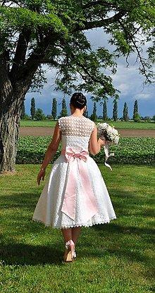 Šaty - wintage  svadobné šaty slečny A. - 4478979_