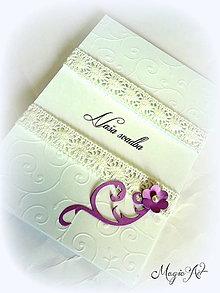 Papiernictvo - Svadobné menu  a program