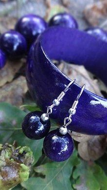 Sady šperkov - Fialová sada 3v1 - 4481059_