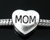 Pandorková korálka - vinutka s nápisom MOM