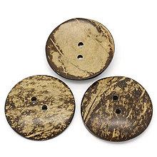 Galantéria - Veľký kokosový gombík 5cm - 4481631_
