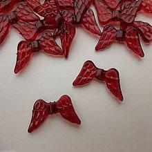 Korálky - Korálky krídielká červené - 4482603_