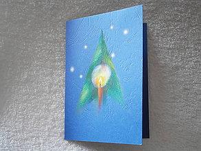 Papiernictvo - Pohľadnica, vianočné svetielka - 4479451_