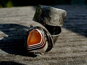 Prstene - Prsteň-achát farebný-tiffany - 4484683_