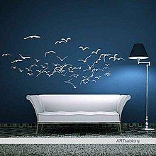 Dekorácie - (3550n) Nálepka na stenu - Kŕdeľ - 4484086_