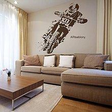 Dekorácie - (3483n) Nálepka na stenu - Motocross - 4484105_