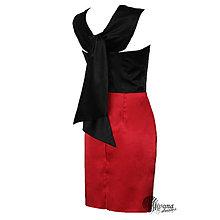Šaty - Extravagantné koktejlky s mašlou na chrbáte v rôznych farbách - 4483759_