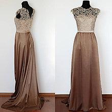 Šaty - Spoločenské šaty z hrubej krajky s vlečkou rôzne farby - 4486923_