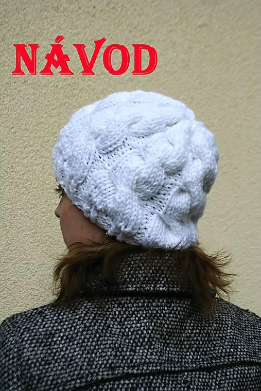69c8353a7cd Návod na pletenou bílou čepici s copy II.      pletena-tvorba ...
