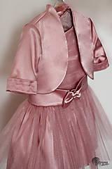 Detské oblečenie - Šaty pre malé princezné s tylovou sukničko a bolerkom u - 4490595_