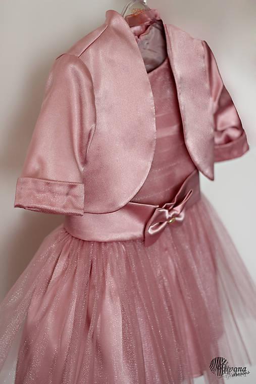 Šaty pre malé princezné s tylovou sukničko a bolerkom u