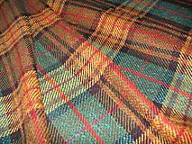 Textil - Vnené káro jeseň - 4487977_