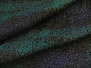 Textil - Flauš zelený káro - 4488068_
