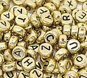 Zlaté korálky abeceda (balíček 100ks)