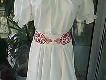 Šaty - Folk svadobné šaty s červeným srdcom ... - 4488545_