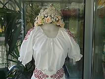 Šaty - Folk svadobné šaty s červeným srdcom ... - 4488548_