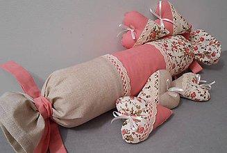 Úžitkový textil - vankušik valec - romantický - 4494757_