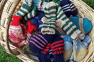 Obuv - Detské štrikované ponožky - 4493677_