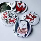 Odznaky 58mm (maco, líšky, zajace)