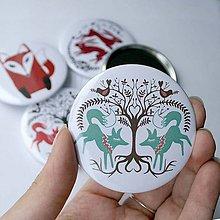 Zrkadielka - Zrkadielko do kabelky (zajace a líšky) - 4491803_
