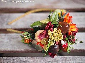 Ozdoby do vlasov - podzimní čelenka s houbami - 4492691_
