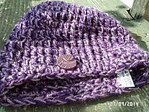 Čiapky - fialová s gombíkom :) - 4496629_