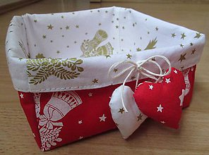 Dekorácie - prvý červený vianočný... - 4496560_