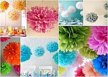 Dekorácie - Pompomy z hodvábneho papiera - 24cm - 4498780_