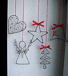 Dekorácie - vianočné dekorácie 1ks - 4499271_