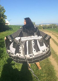 Svetre/Pulóvre - LEL white-black sveter - 4502486_