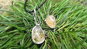 Sady šperkov - Citrín - Peniažky do vrecka a šťastie do vienku - 4499693_