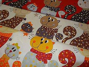 Textil - bavlnené látky -Francúzko-mačičky panel - 4500921_