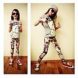 Detské oblečenie - Detské legínky veľkosť 140-146 - 4502206_