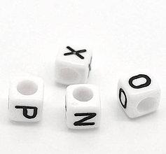 Korálky - Korálky písmená kocky (balíček 100ks) - 4498956_
