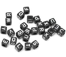 Korálky - Korálky abeceda (balíček 100ks) - 4498974_