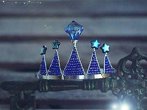 Ozdoby do vlasov - čelenka midnight queen - 4502182_