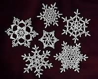 Dekorácie - sada snehových vločiek 15 - 4502717_