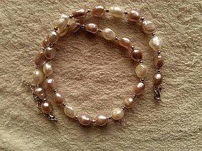 Náhrdelníky - Náhrdelník z riečnych perál. - 4503504_