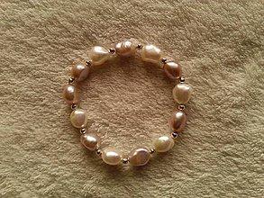 Náramky - Náramok z riečnych perál. - 4503546_
