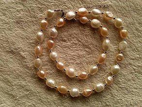 Náhrdelníky - Náhrdelník z riečnych perál. - 4504202_