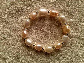 Náramky - Náramok z riečnych perál. - 4504226_