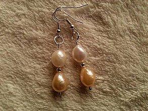 Náušnice - Náušnice z riečnych perál. - 4504278_