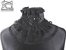 Čierny dámský gothic golier 0430