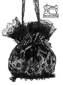 Kabelky - Dámská čipková kabelka , pompadúrka 0270 - 4505473_