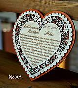 Svadba - Svadobné srdce 6 - Poďakovanie rodičom - 4507178_