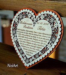 Darčeky pre svadobčanov - Svadobné srdce 6 - Poďakovanie rodičom - 4507178_