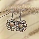 Náušnice - Jaspis květ - 4502900_