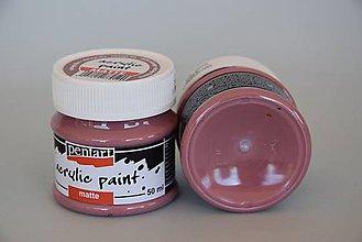 Farby-laky - Matná akrylová farba, vintage fialová - 4503267_