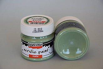 Farby-laky - Matná akrylová farba, vintage zelená - 4503284_